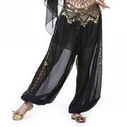 激安!ベリーダンス衣装◆ステージ服◆コスチューム◆スリット◆タッセル◆ビーズ&コイン◆ズボン