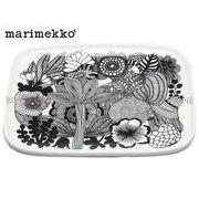 【マリメッコ】 67845 シイルトラプータルハ プレート 15×12cm ホワイト/ブラック 皿 お皿 食器