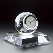 (ステーショナリー)(クリスタルオーナメント)グラスワークスナルミ アース クロック GW1000-11010