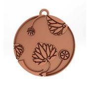 花付き葵の丸2 家紋 トップのみ シルバー925 ピンクゴールド