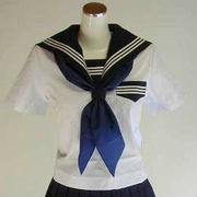 三角型スカーフ 紺