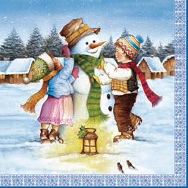 Daisy  ペーパーナプキン クリスマス スノーマン×子供達