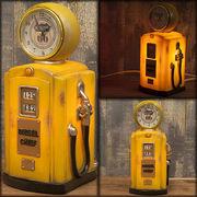 時計付ライト ナイトランプ★【Night Clock Lamp】★ROUTE66★GUS PUMP Yellow★
