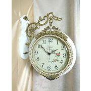 高級 壁掛け両面時計 アントワネットホワイト2