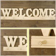 【SALE/値下げ】とってもオシャレな木製のWoody Welcome(ウェルカム)フック♪