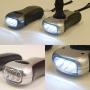 【SALE/値下げ】★防災ライト★電池不要♪クールなデザインの3LEDダイナモフラッシュライト♪