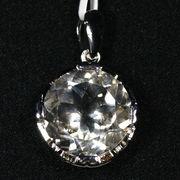 ☆高品質☆【ペンダントトップ】ハーキマーダイヤモンド ブリリアントカット (約18mm) (sv925)