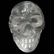 ≪特価品≫天然石 スピリチュアルパワーストーン 彫刻 クォーツ水晶(Quartz) ドクロ/スカル