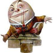 ◆英アソート対象商品◆【英国雑貨】Lark Rise Designs  不思議の国のアリス Humpty Dumpty(LRC24)
