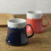 【箱入り2個セット】富士山マグカップ 青富士&赤富士 ギフトセット[H393][美濃焼]