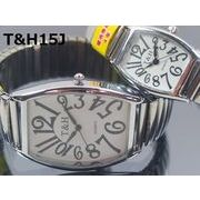 T&Hメンズ、レディース腕時計 ペア ジャバラベルト 日本製高性能省電力ムーブメント 電池寿命4年以上