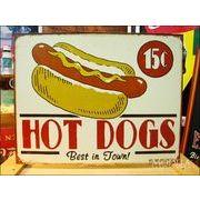 アメリカンブリキ看板 Schonberg Hot Dog
