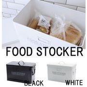 現代百貨 保存容器 FOOD STOCKER ワイド 10L ブラック