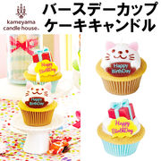 ■カメヤマキャンドルハウス■ バースデーカップケーキキャンドル