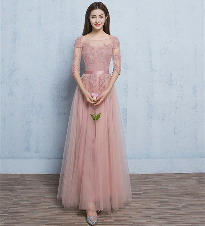 2651335c31885 超人気 豪華 ロングドレス パーティドレス 袖ありイブニングドレス ウェディング 花嫁披露宴 ファスナー