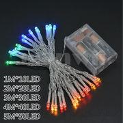イルミネーション 電池式 LEDクリスマス 防水 1m/2m/3m/4m/5m 会場アクセサリー クリスマス装飾品