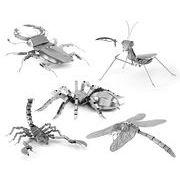■ステンレス鋼3Dパズル■ 昆虫シリーズ オオクワガタ・カマキリ・クモ・サソリ・トンボ