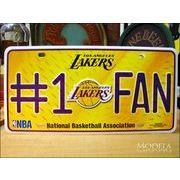 ライセンスプレート NBA Lakers #1 FAN
