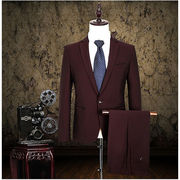 新品 かっこいい セットアップ ジャケット+パンツ2点セット スリーピース メンズ ビジネススーツ