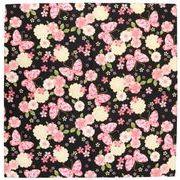 藤万 小風呂敷 彩りくら布 桜蝶 ブラック 52×52cm