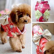 bc136022◆送料0円◆オシャレなドッグ和服♪ ドッグウェア【犬服】♪ 小型犬  日系犬ワンピース