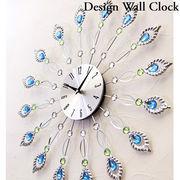 【壁掛時計】 デザインウォールクロック【ピーコック】