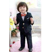 新品 高品質 子供服 子供スーツ フォーマル 男の子キッズスーツ 4点セット 七五三 ピアノ
