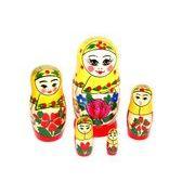 ロシア伝統柄のマトリョーシカ ロシヤーノチカ 5個組(プラトーク巻き)