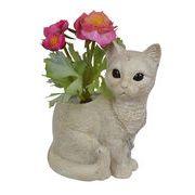 【 SALE 】 プランター(白猫)
