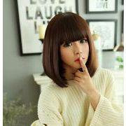 ショットウイッグ 女性用 自然な質感 耐熱 専用ネット付き かつら コスプレ ウイッグ