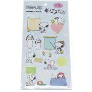 【文具】スヌーピー 書き込めるデコシール/スヌーピーとウッドストック01