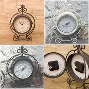 【上代変更/値下げ】ノーブルアイアンクロック★ボースサイドクラウン L【置時計/両面時計】