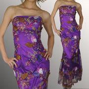 葉装飾 刺繍ロングドレス