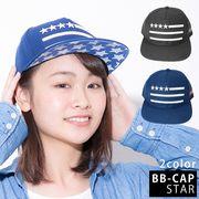 帽子 キャップ ベースボールキャップ 星刺繍 BBキャップ メンズ レディース キーズ Keys