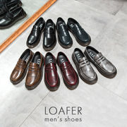 ローファー メンズシューズ 革靴 紳士用 男性用 レザー 皮 革 ビンテージ風 カジュアル