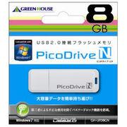 GREENHOUSE USBフラッシュメモリ ピコドライブN 8GB GH-UFD8GN