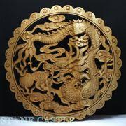 ☆高品質☆【彫刻置物】楠(くすのき) 木製レリーフ 龍