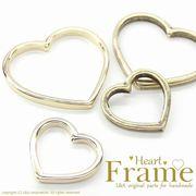 "★L&A original Parts★ハートフレームチャーム★K16GP&金古美★♪174 ""Heart Frame"""