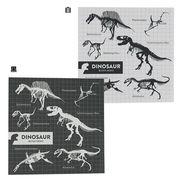 《文具》肉食恐竜 ブロックメモ/モノトーン
