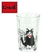 「にゃん屋」★デニム猫ガラスタンブラー