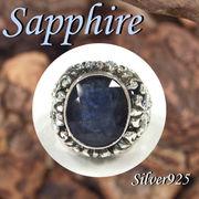 大きいサイズ / 11-0089  ◆ Silver925 シルバー リング サファイア 19号