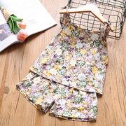 花柄★新しいスタイル★キッズフリース2点セット★シャツ+パンツ★可愛い