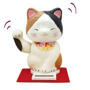 ちぎり和紙 福福(プクプク)招き猫/三毛猫