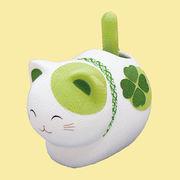 ゆらゆらソーラー 風水座り猫/緑