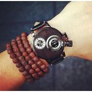 ★NEWファッション★メンズに向け★個性的 素敵な腕時計★二つ時間を表示でき!★ウォッチ★4色★