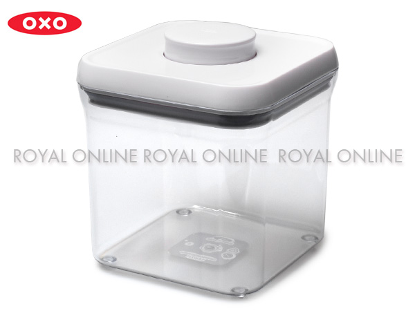 S) 【オクソー】 1193700 OXO ポップコンテナ ビッグスクエア ショート 2300ml 保存容器 ケース ホワイト