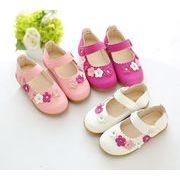 【子供靴】★可愛いデザインの子供靴&サンダル★ピカピカ皮靴★女の子★3色★サイズ21-30