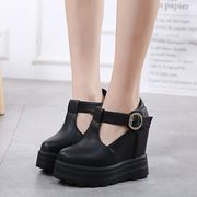 厚底靴 【3cmクッション インソール付】 美腿 可愛い カワ かわいい 全2色 r1000010