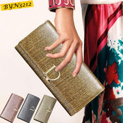 【ピンク他全4色】本革財布 牛革 な長財布 レディース財布 婦人財布 ロングウォレット