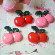 DIY用人気デコレーション 可愛いさくらんぼ果物フルーツ デコパーツ手芸 クラフト生地 材料